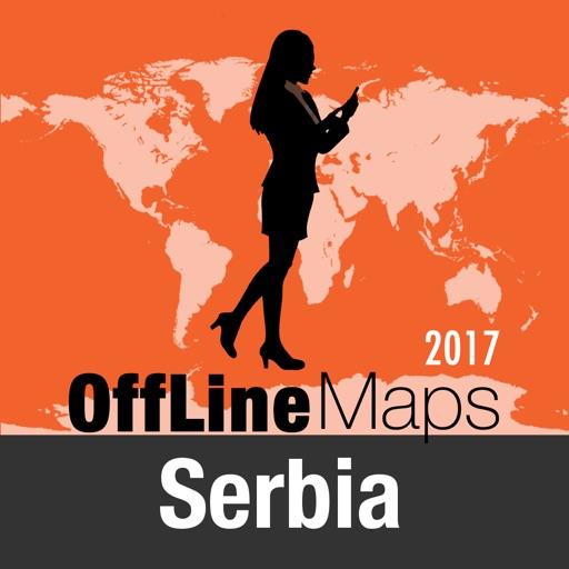 Сербия Оффлайн Карта и