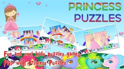 Princess Cartoon Jigsaw Puzzles Games for Toddlers