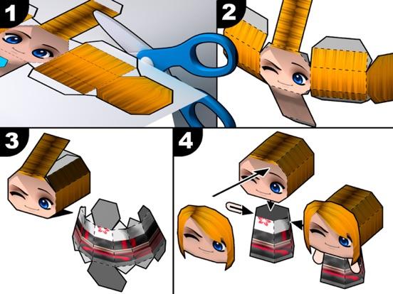 Screenshot #2 for PaperChibi Lite - Free Avatar Papercraft