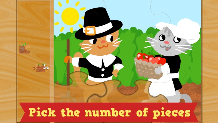 Thanksgiving Puzzles - Fall Holiday Games for Kids screenshot-1