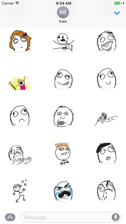 Meme - poker faces stickers pack screenshot-3