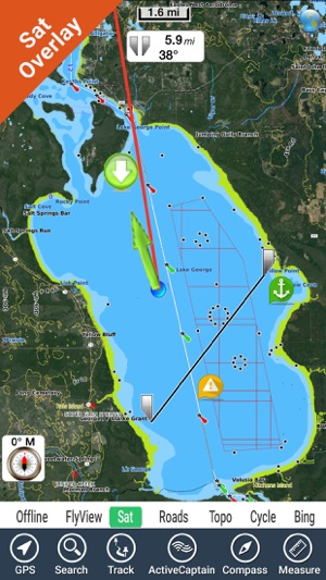 Lake George New York Map.Lake George New York Gps Fishing Map Offline On The App Store