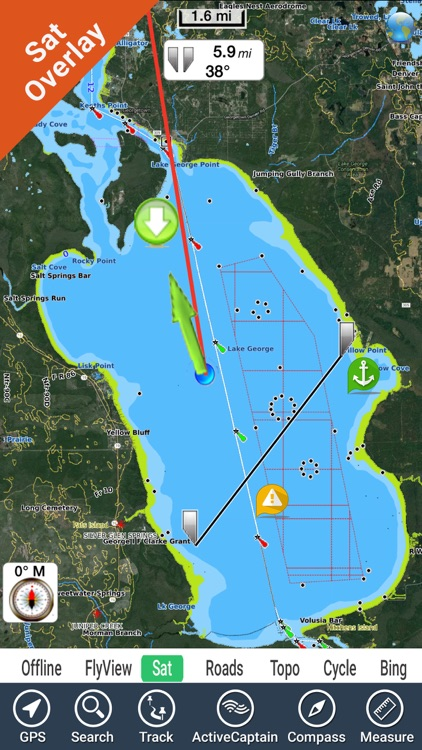 Lake George New York GPS fishing map offline