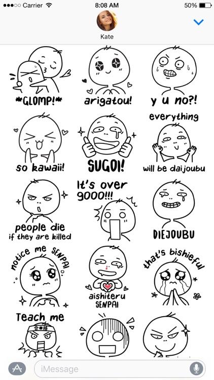 Otaku Lingo stickers screenshot-3