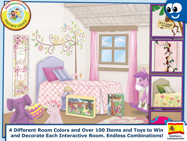 Spanish First Words Book and Kids Puzzles Box: Kids Favorite Activity Center in an Interactive Playing Room screenshot-4