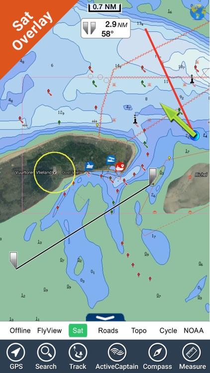 Marine : Netherlands HD - GPS Map Navigator