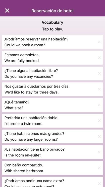 Phrasebook & Vocabulary - English, Spanish, German screenshot-4