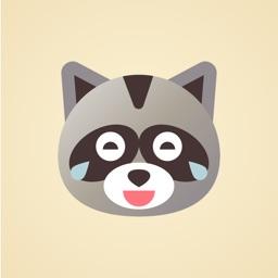 Raccoon Emojis Stickers