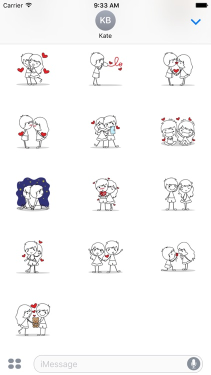 Love Couple sticker for iMessage by AMSTICKERS
