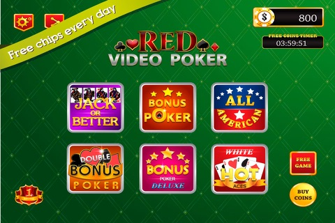 Red Video Poker : 1 2 32 Decode Jackpot Casino Game screenshot 1