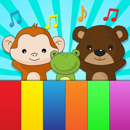 Animal sounds kids piano