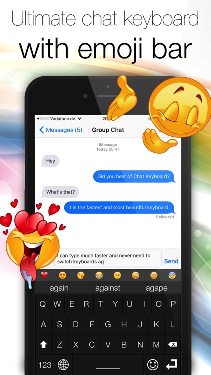 Chat Keyboard - Text and message faster! screenshot-0