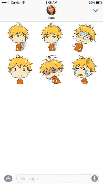 Hiroki stickers ~ the boy with golden hair screenshot-4