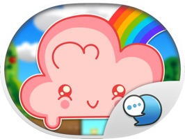 Cloud Sticker Emoji Keyboard Theme ChatStick by ChatStick