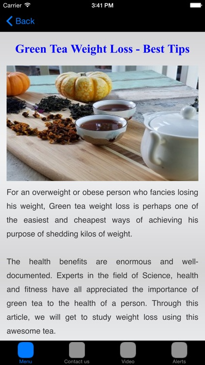 Green Tea Weight Loss & Green Tea Diet screenshot-3