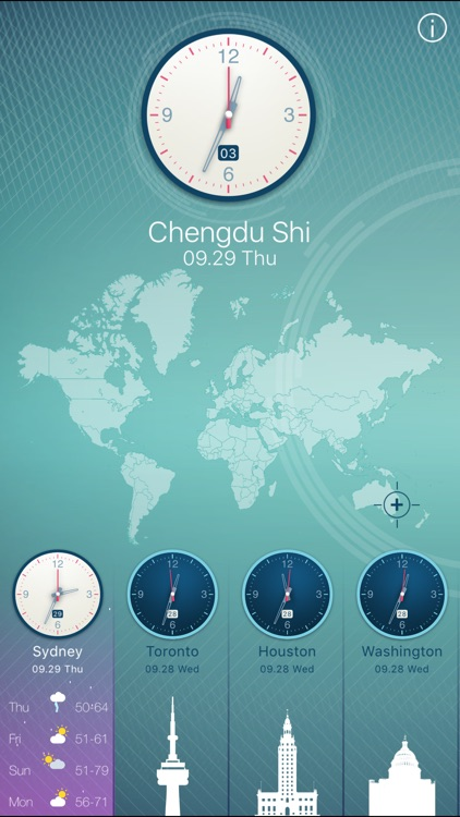 World clock 2 for colorful clock world map time by feng min world clock 2 for colorful clock world map time gumiabroncs Choice Image
