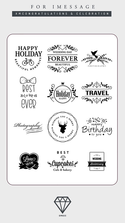 B&W Emoji Keyboard - Gift Sticker for Messenger