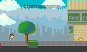 Retro Skate Pixel Art Platformer Game On TV Family