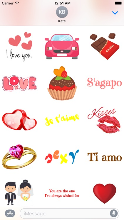 Romantic Stickers screenshot-2