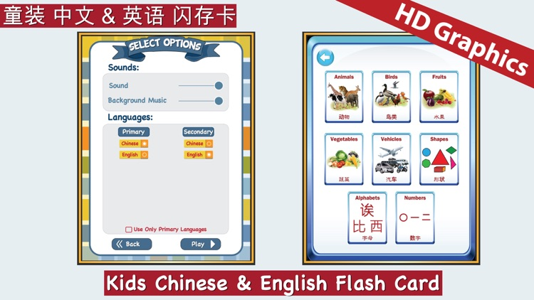 Kids Chinese & English Flash Cards ABC