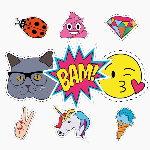 Megapack Pop Art Nostalgia - Stickers for iMessage