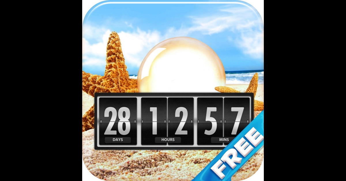 Holiday And Vacation Countdown Clock Quot Days Until Quot On The