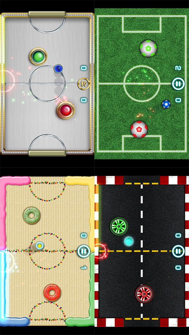 Glow Hockey 2 screenshot1