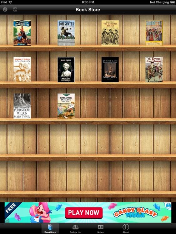 Mark Twain Book Collection for iPad