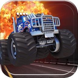 Monster Truck Road Rage Destruction Racing Game