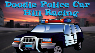 Doodle Police Car Hill Racing Free Game screenshot one