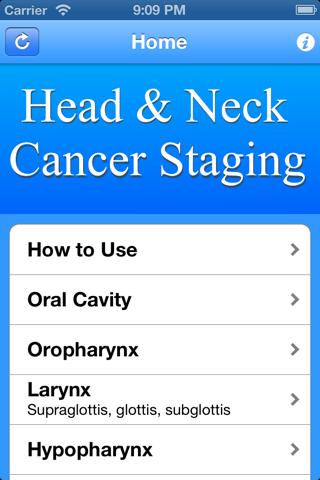 Head & Neck TNM Staging screenshot 1