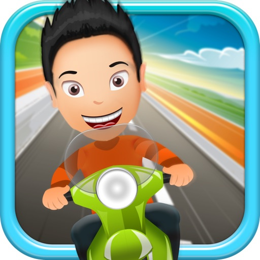 Kelvin's Saigon Cupcake Adventure - Free Scooter Racing Game icon