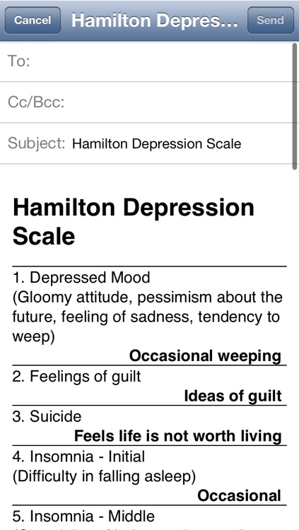 Hamilton Depression Scale Lite screenshot-4