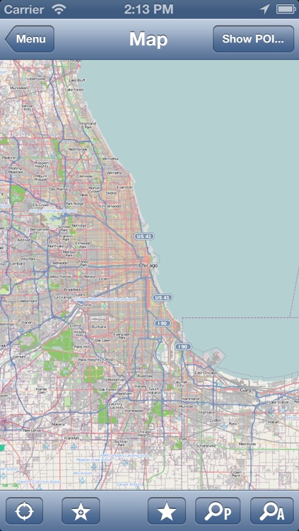 Chicago USA fline Map PLACE STARS by PLACE STARS Inc