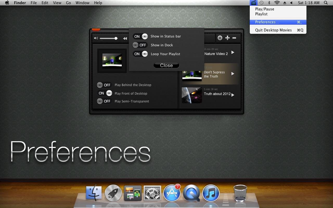 Desktop Movies on the MacAppStore