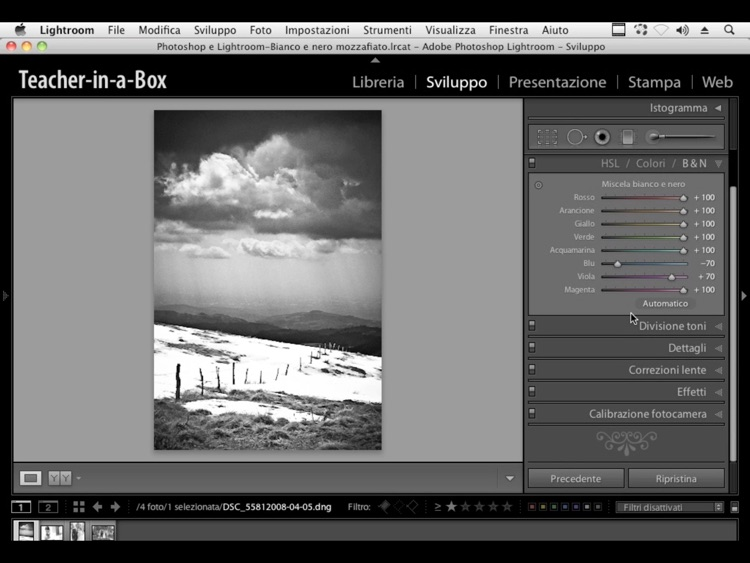 Videocorso Per Photoshop E Lightroom Bianco E Nero Mozzafiato By Teacher In A Box