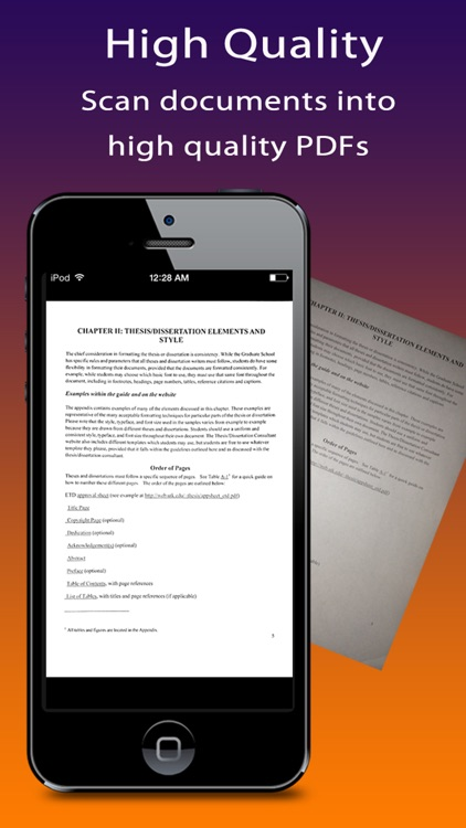 Quick Scanner Free : document, receipt, note, business card, image into high-quality PDF documents