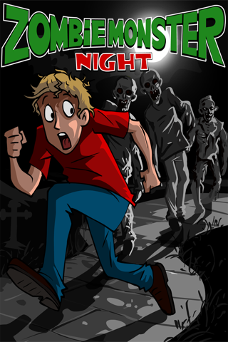 Zombie Monsters Night - Top Best Endless Free Chase Run Game screenshot one