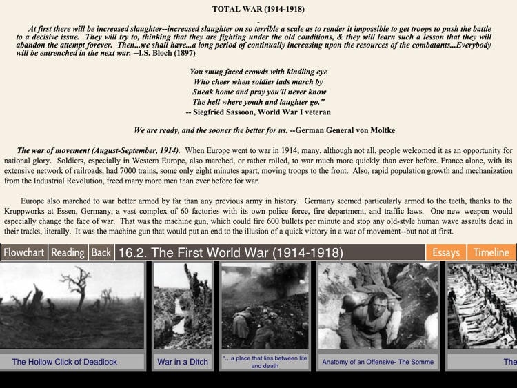 Flow of History — World War I