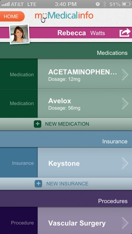 My Medical Info screenshot-2