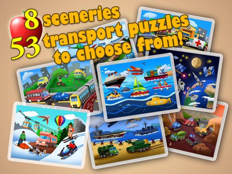 Transport Jigsaw Puzzles 123 Free for iPad - Fun Learning Puzzle Game for Kids screenshot-4