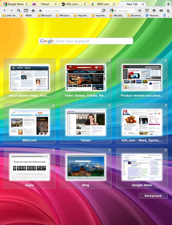 Super Prober Web Browser - Full Screen Desktop Tabbed Fast Browser with Page Thumbnails
