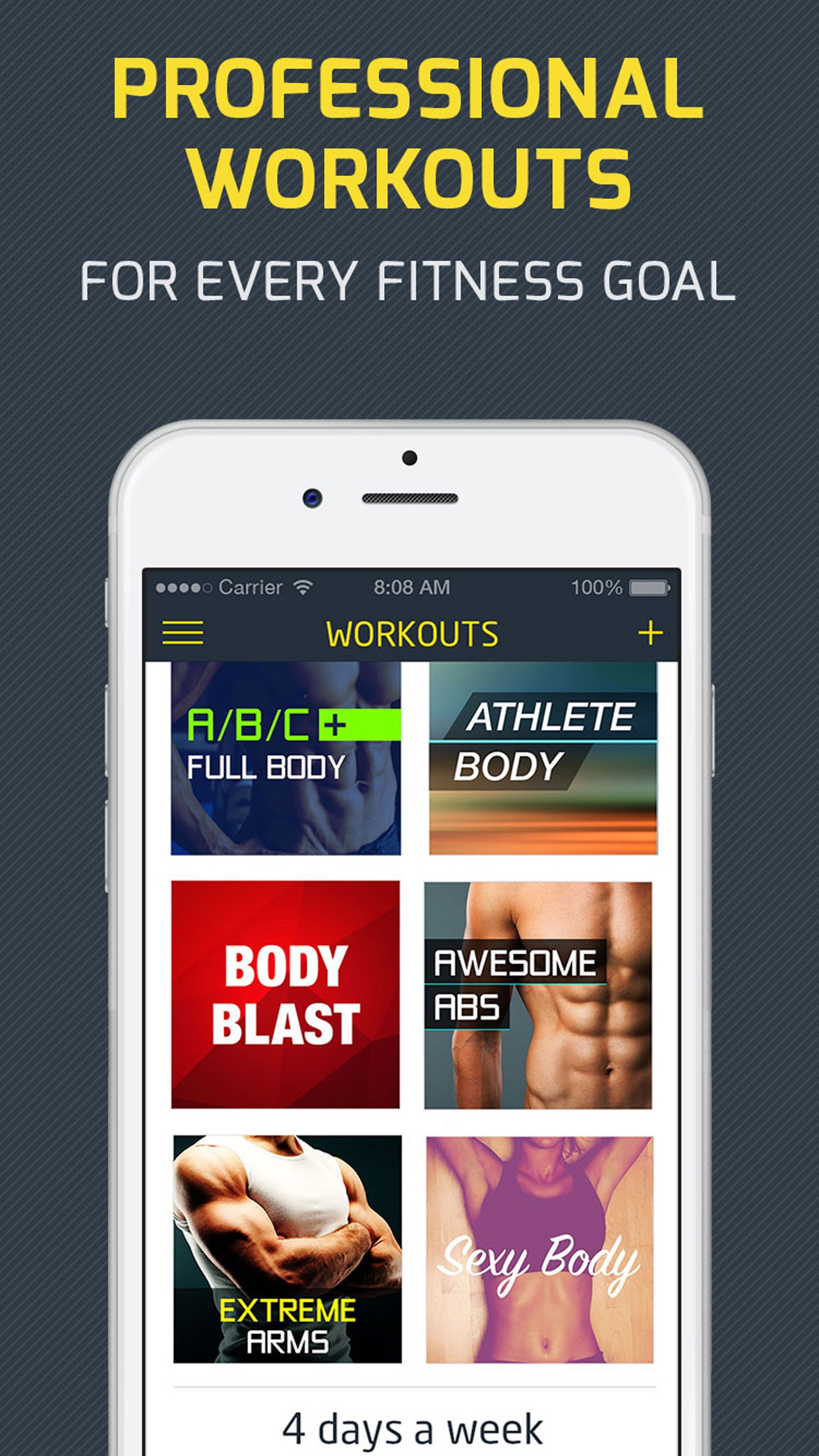 Workout: Gym personal trainer & workout tracker Screenshot