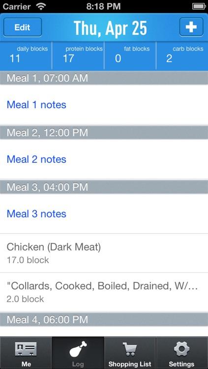 Food RX (Free)- Paleo & zone diet app screenshot-3