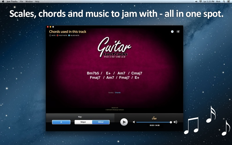 音阶教练和练习伙伴 Guitar Jam Tracks for Mac