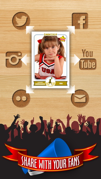 Cheerleader Card Maker - Make Your Own Custom Cheerleader Cards with Starr Cards screenshot-3