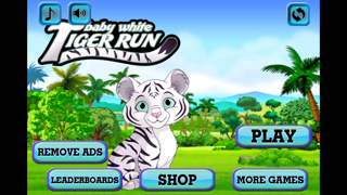 Baby White Tiger Run : Dash Race with Mittens the Super Sonic Cub screenshot one