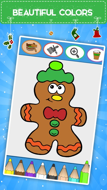 Winter coloring book for toddlers: Kids drawing, painting and doodling games for children
