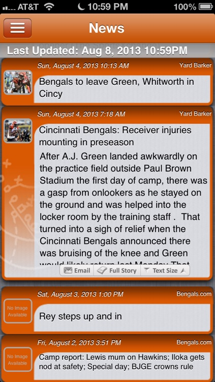 Cincinnati Football Live screenshot-1