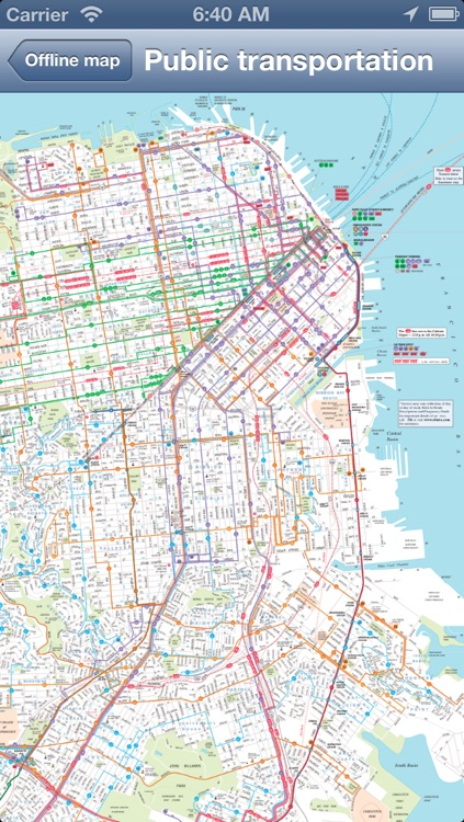San Francisco Offline Map + Public Transportation map screenshot-2